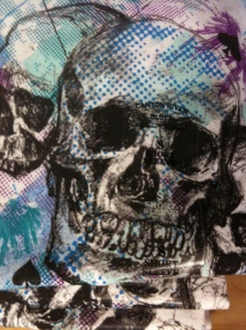 Image of skull from T-shirt