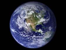 Image of Earth from NASA'a Terra satellite