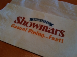 Napkin from Showmars