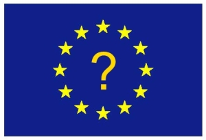 [EU Flag with Question Mark]