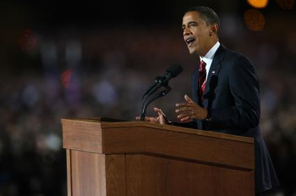 President Obama speaking on Election Night 2012