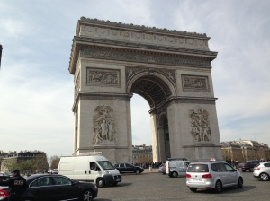 The Arc de Triomphe -- also known as the Crazy Traffic Circle of Guaranteed Death