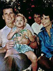 James Garner with his wife and family in 1961 (from Wikipedia)