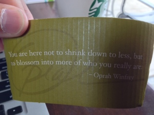 Thanks, Oprah, but my clothes are beginning to fit a bit too tightly as it is.