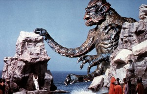 """Release the Scandinavian Sea Monster from Norway!"" cried the Greek Deity (image from MGM's (Warner Bros') ""Clash of the Titans"")"